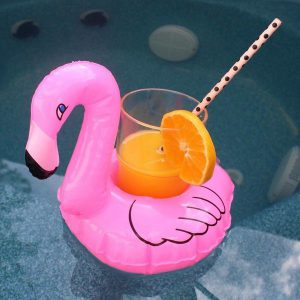 Inflatable cup holder: Flamingo